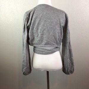 skylar+madison Tops - Crop top sweater with wrap waist